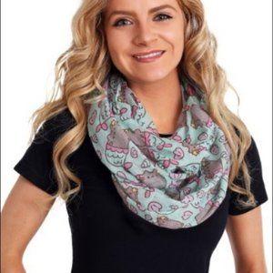 Pusheen the cat mermaid lightweight infinity scarf